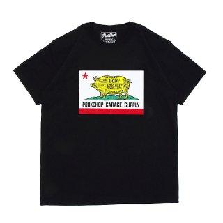 PORKCHOP/PORK CALIF TEE/ブラック