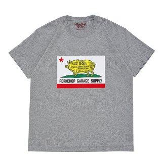 PORKCHOP/PORK CALIF TEE/グレー