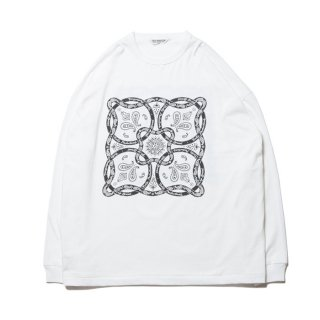 COOTIE/PRINT L/S TEE(BANDANA)/ホワイト