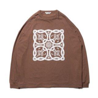COOTIE/PRINT L/S TEE(BANDANA)/ブラウン