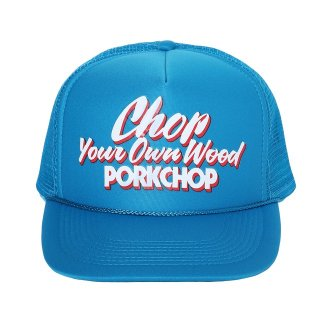 PORKCHOP/CHOP YOUR OWN WOOD CAP/ターコイズブルー