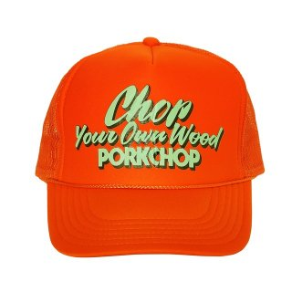 <img class='new_mark_img1' src='https://img.shop-pro.jp/img/new/icons8.gif' style='border:none;display:inline;margin:0px;padding:0px;width:auto;' />PORKCHOP/CHOP YOUR OWN WOOD CAP/オレンジ