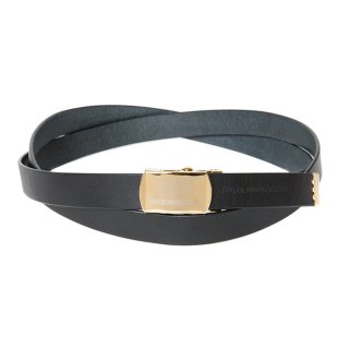 <img class='new_mark_img1' src='https://img.shop-pro.jp/img/new/icons8.gif' style='border:none;display:inline;margin:0px;padding:0px;width:auto;' />COOTIE/LEATHER NARROW G.I BELT/ブラック×ゴールド