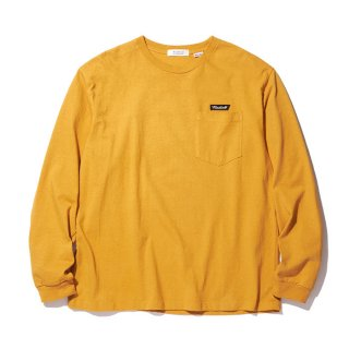 RADIALL/FLAGS-CREW NECK POCKET T-SHIRT L/S/マスタード