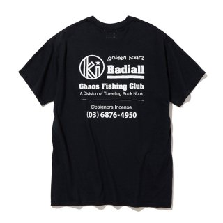 RADIALL/GOLDEN HOURS-CREW NECK T-SHIRT S/S/ブラック