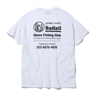 RADIALL/GOLDEN HOURS-CREW NECK T-SHIRT S/S/ホワイト