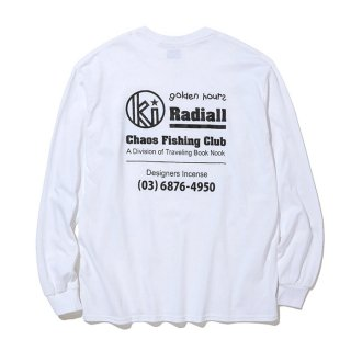 RADIALL/GOLDEN HOURS-CREW NECK T-SHIRT L/S/ホワイト