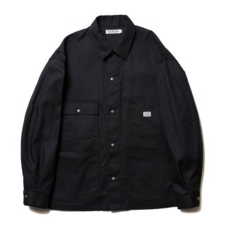 COOTIE/T/C SERGE SHORT COVERALL/ブラック