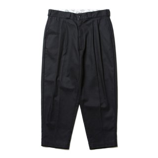 COOTIE/T/C SERGE 2 TUCK TROUSERS/ブラック