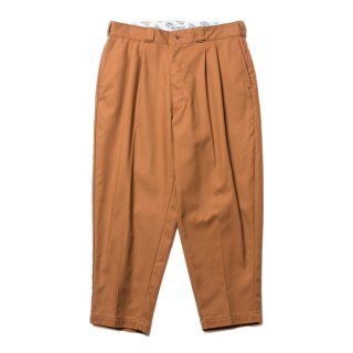 COOTIE/T/C SERGE 2 TUCK TROUSERS/ブラウン