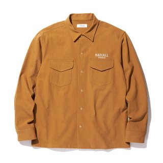 <img class='new_mark_img1' src='https://img.shop-pro.jp/img/new/icons8.gif' style='border:none;display:inline;margin:0px;padding:0px;width:auto;' />RADIALL/SLOW BURN-OPEN COLLARED SHIRT L/S/キャメル