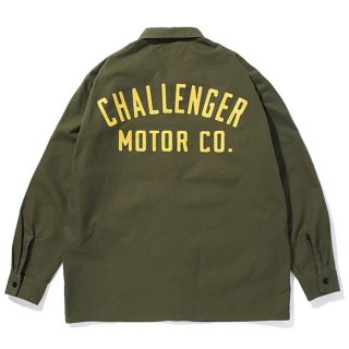<img class='new_mark_img1' src='https://img.shop-pro.jp/img/new/icons8.gif' style='border:none;display:inline;margin:0px;padding:0px;width:auto;' />CHALLENGER/MOTOR CO. SHIRT/オリーブ