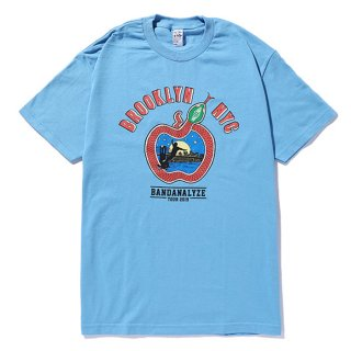 CHALLENGER/BIG APPLE TEE/サックスブルー