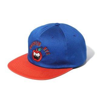 CHALLENGER/BIG APPLE CAP/ブルー×オレンジ