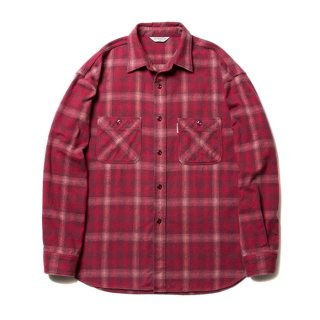 COOTIE/OMBRE CHECK SHIRT/レッド