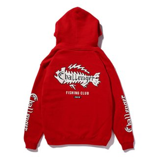 CHALLENGER/FISHING CLUB HOODIE/レッド