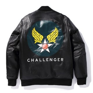 CHALLENGER/LEATHER FLIGHT JACKET