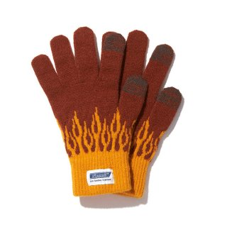 RADIALL/FLAMES-JACQUARD GLOVES/ブラウン