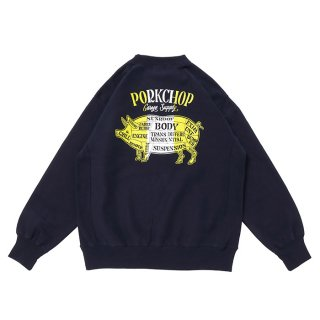 PORKCHOP/PORK BACK SWEAT/ネイビー