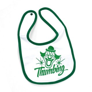THUMBING/GOING BABY BIB/ホワイト×グリーン