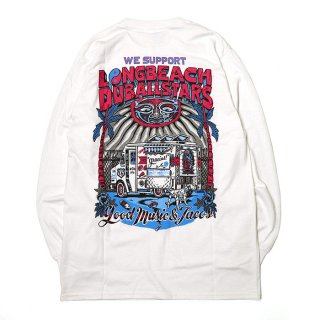 RADIALL/LONG BEACH C.N. T-SHIRT L/S/ホワイト