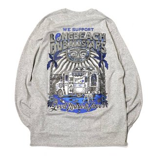 RADIALL/LONG BEACH C.N. T-SHIRT L/S/グレー