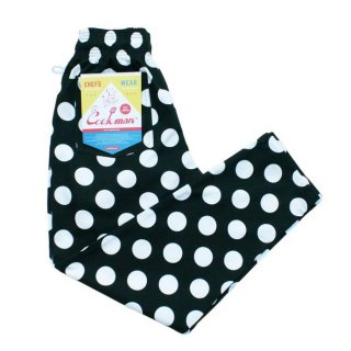 COOKMAN/CHEF PANTS/BIG DOTS/送料無料