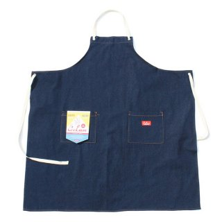 COOKMAN/LONG APRON/DENIM/送料無料