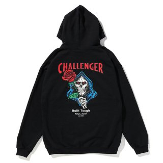 CHALLENGER/SPADE SKULL HOODIE/ブラック