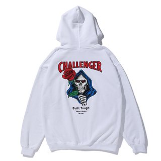 <img class='new_mark_img1' src='https://img.shop-pro.jp/img/new/icons8.gif' style='border:none;display:inline;margin:0px;padding:0px;width:auto;' />CHALLENGER/SPADE SKULL HOODIE/ホワイト