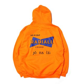 RADIALL/BOWTIE HOODIE-HOODIESWEATSHIRT L/S/オレンジ
