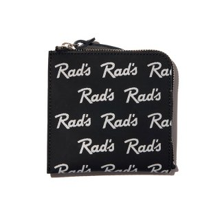 RADIALL/RAD'S-ZIP SQUARE WALLET/ブラック