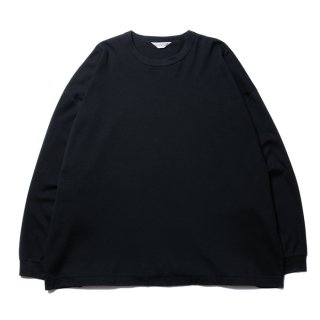 COOTIE/SUPLIMA COTTON HONEYCOMB THERMAL L/S TEE/ブラック