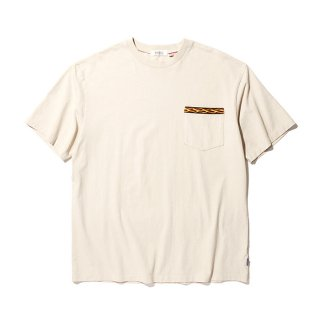 RADIALL/FLAMES-CREW NECK POCKET T-SHIRT S/S/スノーホワイト