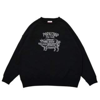 <img class='new_mark_img1' src='https://img.shop-pro.jp/img/new/icons8.gif' style='border:none;display:inline;margin:0px;padding:0px;width:auto;' />PORKCHOP/PORK FRONT STITCH SWEAT