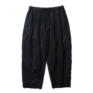 COOTIE/LINEN 2 TUCK EASY PANTS/ブラック