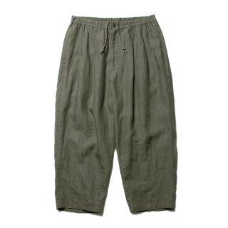 COOTIE/LINEN 2 TUCK EASY PANTS/グレー