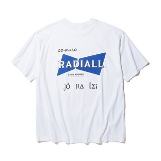 RADIALL/BOWTIE-CREW NECK POCKET T-SHIRT S/S/ホワイト