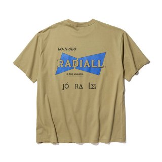 RADIALL/BOWTIE-CREW NECK POCKET T-SHIRT S/S/カーキ