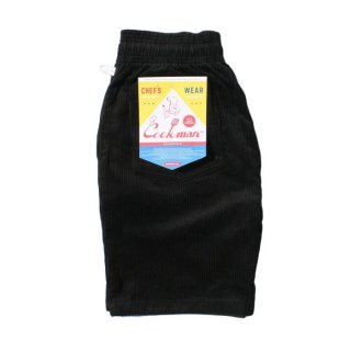 COOKMAN/CHEF SHORT PANTS/CORDUROY/ブラック/送料無料