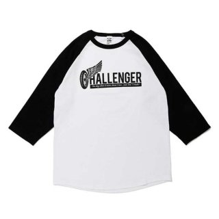 <img class='new_mark_img1' src='https://img.shop-pro.jp/img/new/icons8.gif' style='border:none;display:inline;margin:0px;padding:0px;width:auto;' />CHALLENGER/WHEEL LOGO RAGLAN TEE