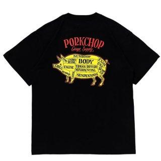 PORKCHOP/PORK BACK S/S TEE/ブラック