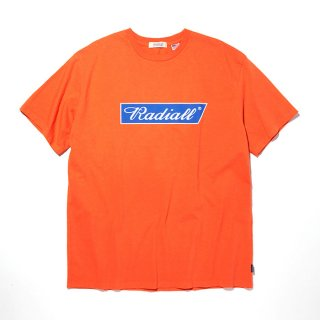 RADIALL/FLAGS-CREW NECK T-SHIRT S/S/オレンジ