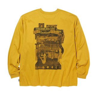 RADIALL/SHAKEDOWN BOULEVARD-CREW NECK T-SHIRT L/S/イエロー