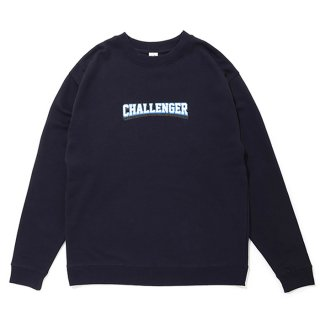 CHALLENGER/COLLEGE LOGO C/N SWEAT/ネイビー
