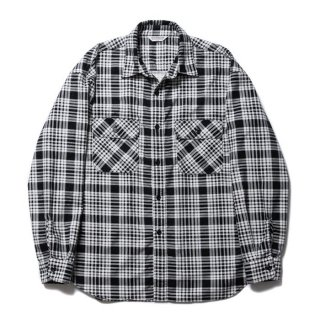 <img class='new_mark_img1' src='https://img.shop-pro.jp/img/new/icons8.gif' style='border:none;display:inline;margin:0px;padding:0px;width:auto;' />COOTIE/PRINT NEL CHECK SHIRT/オフホワイト