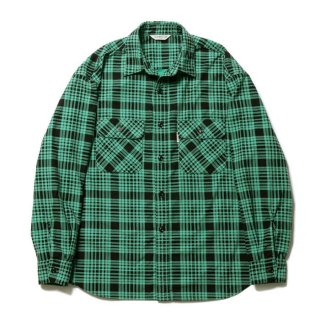 <img class='new_mark_img1' src='https://img.shop-pro.jp/img/new/icons8.gif' style='border:none;display:inline;margin:0px;padding:0px;width:auto;' />COOTIE/PRINT NEL CHECK SHIRT/グリーン
