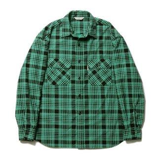 COOTIE/PRINT NEL CHECK SHIRT/グリーン