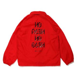 CHALLENGER/NO PAIN NO GAIN COACH JACKET/レッド