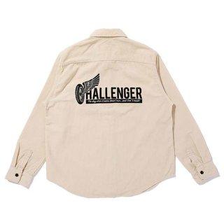 CHALLENGER/L/S CORDUROY WORK SHIRT/オフホワイト